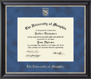 The University of Memphis Diploma Frame - Regal Edition Diploma Frame in Noir