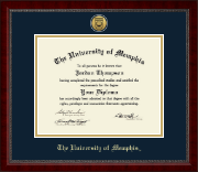 The University of Memphis Diploma Frame - Gold Engraved Medallion Diploma Frame in Sutton