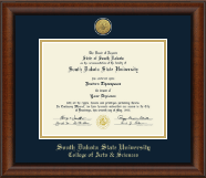 South Dakota State University Diploma Frame - Gold Engraved Medallion Diploma Frame in Austin