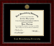East Stroudsburg University Diploma Frame - Gold Engraved Medallion Diploma Frame in Sutton