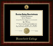 Haverford College Diploma Frame - Gold Engraved Medallion Diploma Frame in Murano