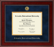 Columbia International University Diploma Frame - Presidential Gold Engraved Diploma Frame in Jefferson
