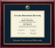 Columbia International University Diploma Frame - Gold Embossed Diploma Frame in Gallery