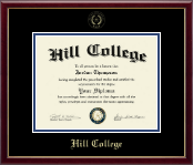 Hill College Diploma Frame - Gold Embossed Diploma Frame in Galleria