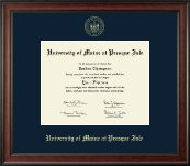 University of Maine at Presque Isle Diploma Frame - Gold Embossed Diploma Frame in Studio