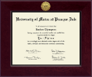 University of Maine at Presque Isle Diploma Frame - Century Gold Engraved Diploma Frame in Cordova