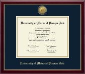 University of Maine at Presque Isle Diploma Frame - Gold Engraved Medallion Diploma Frame in Galleria