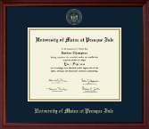 University of Maine at Presque Isle Diploma Frame - Gold Embossed Diploma Frame in Camby