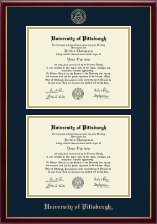 University of Pittsburgh Diploma Frame - Double Diploma Frame in Galleria