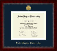 Salve Regina University  Diploma Frame - Gold Engraved Medallion Diploma Frame in Sutton