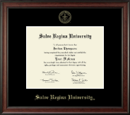 Salve Regina University  Diploma Frame - Gold Embossed Diploma Frame in Studio