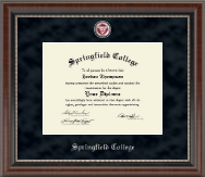 Springfield College Diploma Frame - Regal Edition Diploma Frame in Chateau