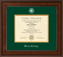 Siena College Diploma Frame - Presidential Masterpiece Diploma Frame in Madison
