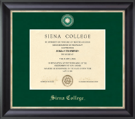 Siena College Diploma Frame - Regal Edition Diploma Frame in Noir