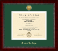 Siena College Diploma Frame - Gold Engraved Medallion Diploma Frame in Sutton