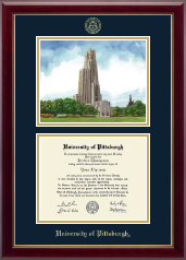 University of Pittsburgh Diploma Frame - Campus Scene Diploma Frame in Gallery
