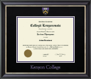 Kenyon College Diploma Frame - Dimensions Diploma Frame in Noir