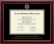Texas Southern University Diploma Frame - Masterpiece Medallion Diploma Frame in Gallery
