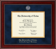 The University of Tulsa Diploma Frame - Presidential Masterpiece Diploma Frame in Jefferson