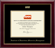 Institute of Hazardous Materials Management Certificate Frame - Gold Embossed Certificate Frame in Gallery