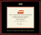 Institute of Hazardous Materials Management Certificate Frame - Gold Embossed Certificate Frame in Camby