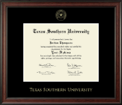 Texas Southern University Diploma Frame - Gold Embossed Diploma Frame in Studio