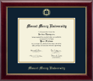 Mount Mercy University Diploma Frame - Gold Embossed Diploma Frame in Gallery