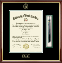 University of South Carolina Upstate Diploma Frame - Tassel Edition Diploma Frame in Southport Gold