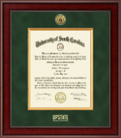 University of South Carolina Upstate Diploma Frame - Presidential Gold Engraved Diploma Frame in Jefferson