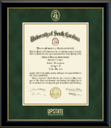 University of South Carolina Upstate Diploma Frame - Gold Embossed Diploma Frame in Onyx Gold