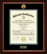 University of South Carolina Upstate Diploma Frame - Gold Engraved Medallion Diploma Frame in Murano