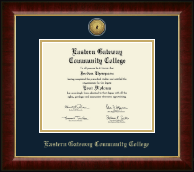 Eastern Gateway Community College Diploma Frame - Gold Engraved Medallion Diploma Frame in Murano
