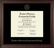 Eastern Gateway Community College Diploma Frame - Gold Embossed Diploma Frame in Studio