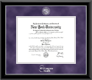 New York University Certificate Frame - NYU Langone Health Residency Certificate Masterpiece Frame in Onyx Silver