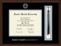 Hawaii Pacific University Diploma Frame - Tassel Edition Diploma Frame in Delta
