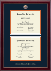 Pepperdine University Diploma Frame - Masterpiece Medallion Double Diploma Frame in Gallery