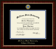 McNeese State University Diploma Frame - Masterpiece Medallion Diploma Frame in Murano