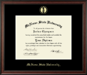 McNeese State University Diploma Frame - Gold Embossed Diploma Frame in Studio
