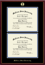 McNeese State University Diploma Frame - Double Diploma Frame in Galleria