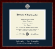 University of New Hampshire Diploma Frame - Silver Engraved Medallion Diploma Frame in Sutton