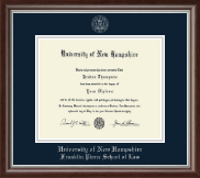 University of New Hampshire Diploma Frame - Silver Embossed Diploma Frame in Devonshire