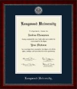Longwood University Diploma Frame - Silver Engraved Medallion Diploma Frame in Sutton
