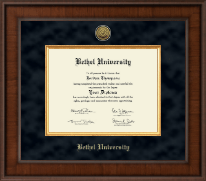 Bethel University Indiana Diploma Frame - Presidential Gold Engraved Diploma Frame in Madison