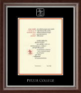 Pitzer College Diploma Frame - Silver Embossed Diploma Frame in Devonshire
