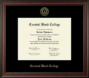 Coastal Bend College Diploma Frame - Gold Embossed Diploma Frame in Studio