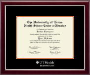 University of Texas Health Science Center at Houston Diploma Frame - Silver Embossed Diploma Frame in Gallery Silver