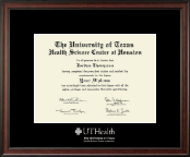 University of Texas Health Science Center at Houston Diploma Frame - Silver Embossed Diploma Frame in Studio