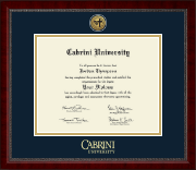 Cabrini University Diploma Frame - Gold Engraved Medallion Diploma Frame in Sutton
