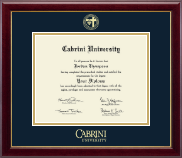 Cabrini University Diploma Frame - Gold Embossed Diploma Frame in Gallery