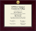 SOWELA Technical Community College Diploma Frame - Century Gold Engraved Diploma Frame in Cordova